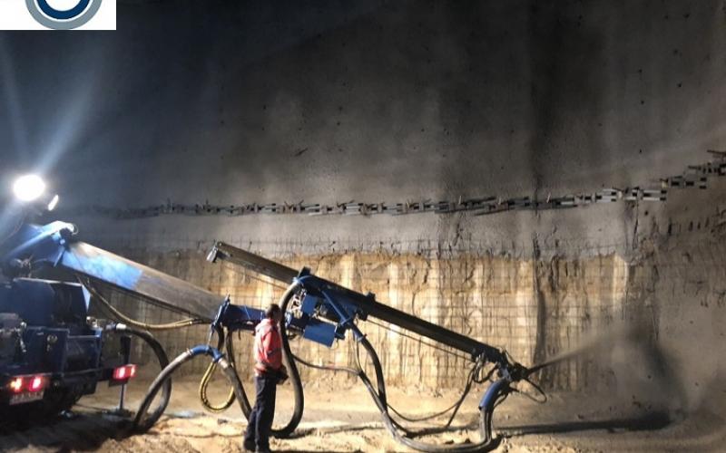 3. пръскан бетон на изкоп